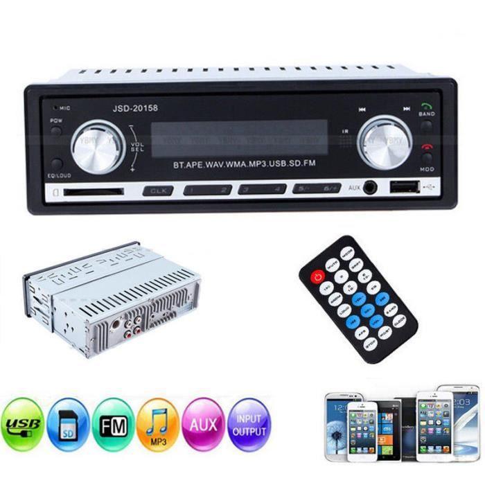 Autoradio SD / USB / MP3 / WMA / AUX-In Mains libres ST -07 Stéréo de Voiture --YuYuan shop