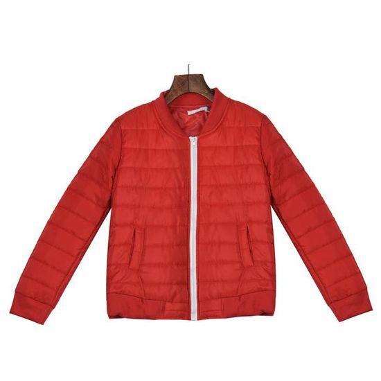 Hiver Slim Casual À D'hiver Manteau Capuche Chaud Veste Automne Épais rouge 61xa5dw1q