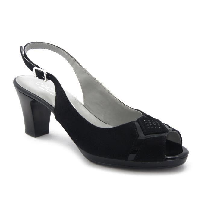 Sandale élégante CINZIA SOFT, chaussure talon 7cm. et le plateau 1cm., IAB3117