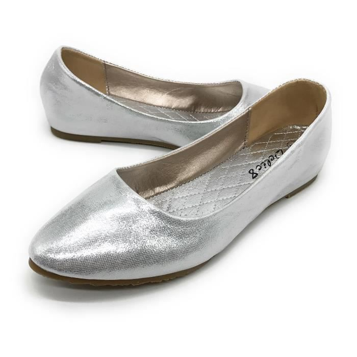 Easy21 Casual Flats Ballet Fashion Shoes Faux Leather DHKNJ Taille-38