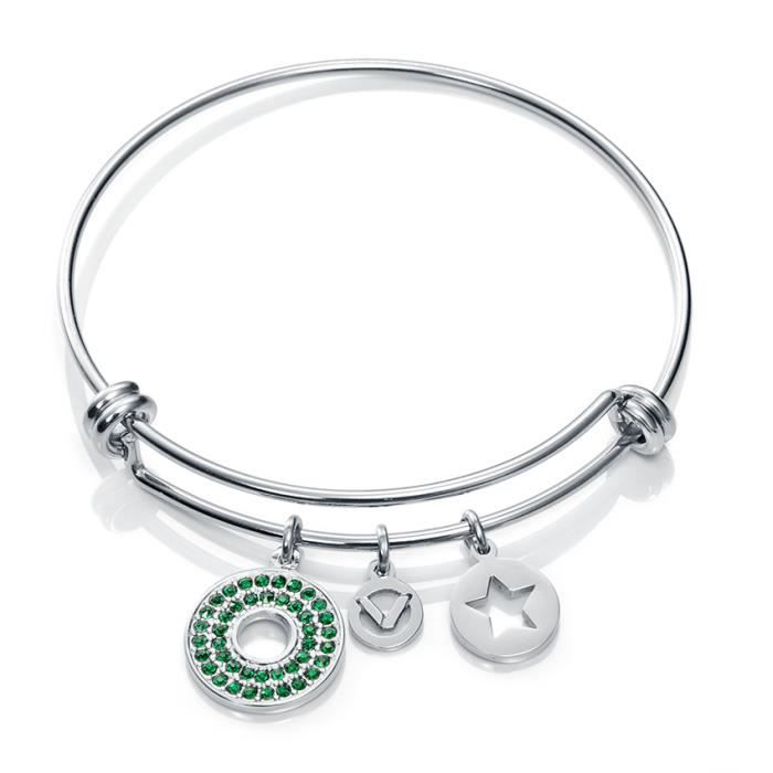 VICEROY JEWELS MODEL FASHION 90036P01010 - BRACELET-BRACCIALE - STAINLESS STEEL - CRYSTALS