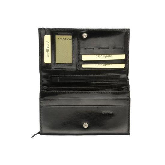 Portefeuille TORRENTE Couture cuir noir Noir - Achat   Vente portefeuille  2009954866333 - Cdiscount 8c3e0762a09