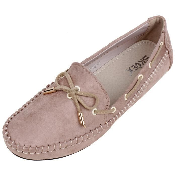 Comfort Loafer Slip-on Flat Driving Shoes SQBL0 Taille-37 1-2
