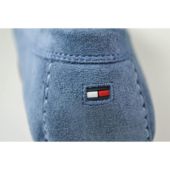 Mocassins Tommy Hilfiger Penny en suede bleu pour homme - Couleur: Bleu - Taille: 43 PiWqjP83bv