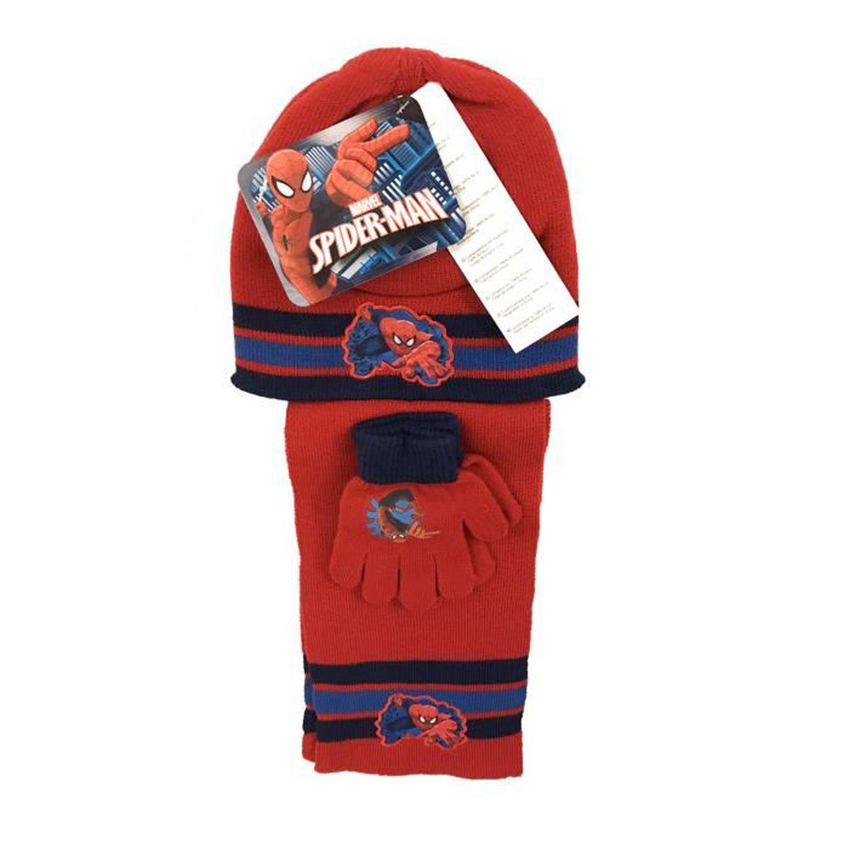 Spiderman Ensemble Echarpe Bonnet gants garcon - Rouge Rouge - Achat ... 95d54f48e65