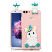 """COQUE - BUMPER Coque Pour Huawei P smart 5.65"""" , Licorne rose Mot"""