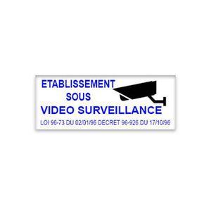 PANNEAU EXTÉRIEUR Stickers autocollant - 210 x 110 mm - Établissemen