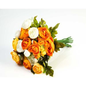 Bouquet de fleur artificielles jaune achat vente for Achat de fleurs