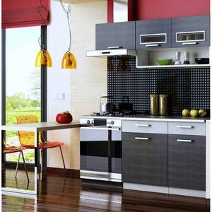 CUISINE COMPLÈTE Cuisine complète TOPAZE noir 1m60/4 meubles
