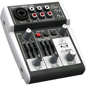 TABLE DE MIXAGE Behringer Consoles Sono et Studio XENYX 302USB