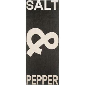 COUVERTURE - PLAID Tapis de cuisine Salt & Pepper Noir & Blanc 80x200