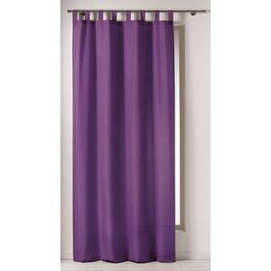 Rideaux violet achat vente rideaux violet pas cher black friday le 24 11 cdiscount for Rideau prune