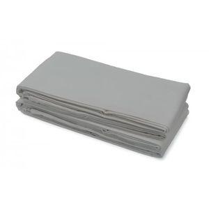 DRAP PLAT Drap plat 100% Coton 240x300 cm gris clair
