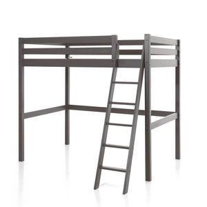 lit mezzanine 140x200 achat vente pas cher. Black Bedroom Furniture Sets. Home Design Ideas