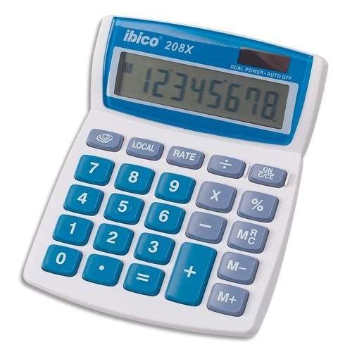 IBICO - Calculatrice de bureau 8 chiffres 208X