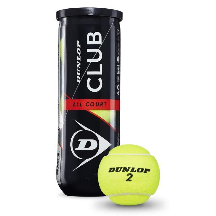 DUNLOP Balle de tennis D TB Club AC 3Pet