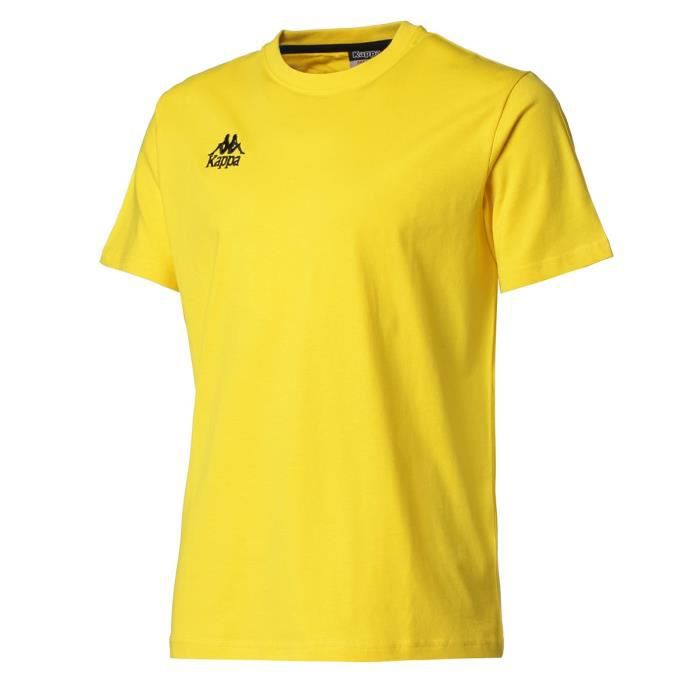 KAPPA T-shirt Manches Courtes - Homme - Jaune