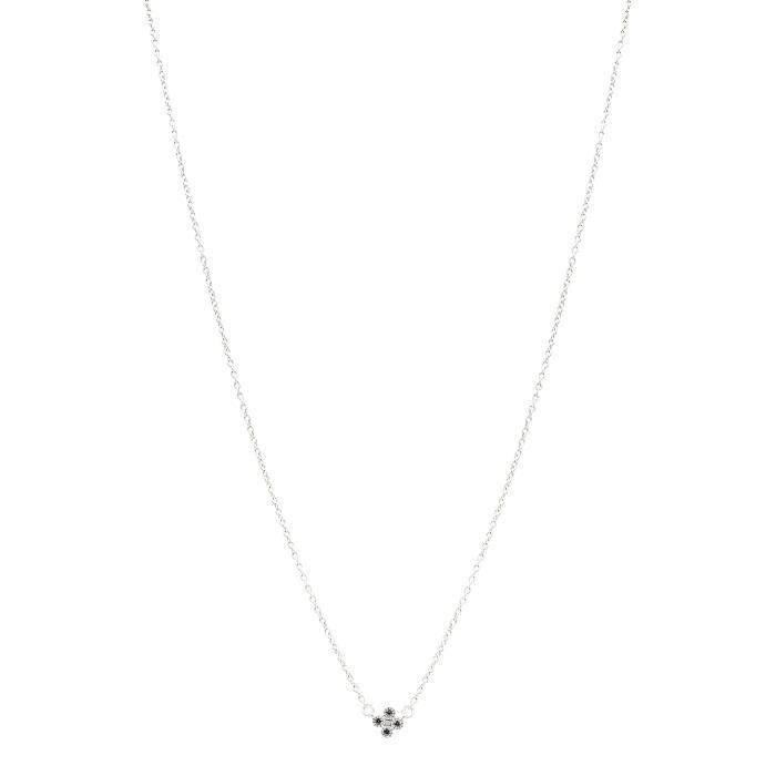 Freida Rothman Rhodium en argent sterling plaqué Mini Trèfle Collier de longueur 40,64cm 1Z8P0R