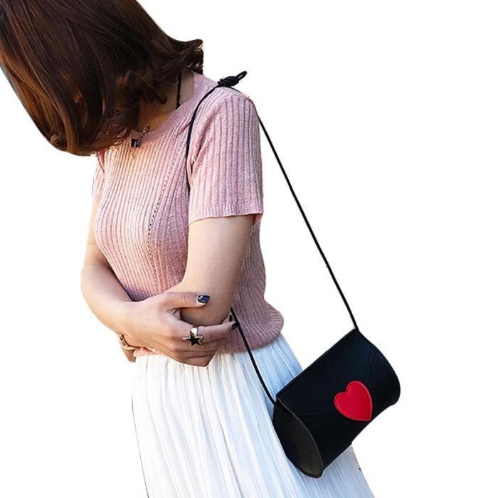 En À Mode Épaule Sac Cqq70614344bk Messenger Bandoulière Femme Cuir Main Coin Fqd6XT