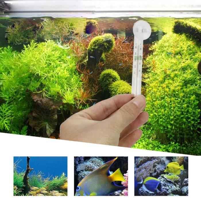 Nouveau Verre Mètre De Poissons D'aquarium Réservoir D'eau Température Thermomètre Ventouse