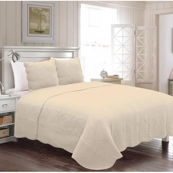 couvre lit lin achat vente couvre lit lin pas cher. Black Bedroom Furniture Sets. Home Design Ideas