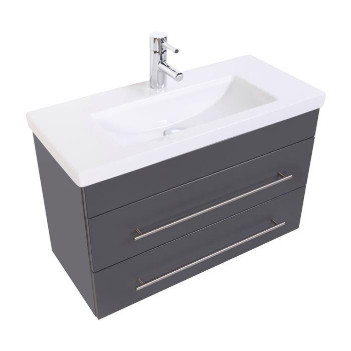 Meuble salle de bain Mars 800 SlimLine anthracite satiné Achat