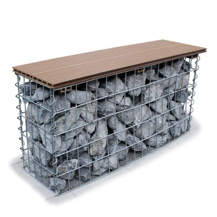 Pro.tec gabions sièges banc 100 x 48 x 30 cm gabions à remplir avec ...