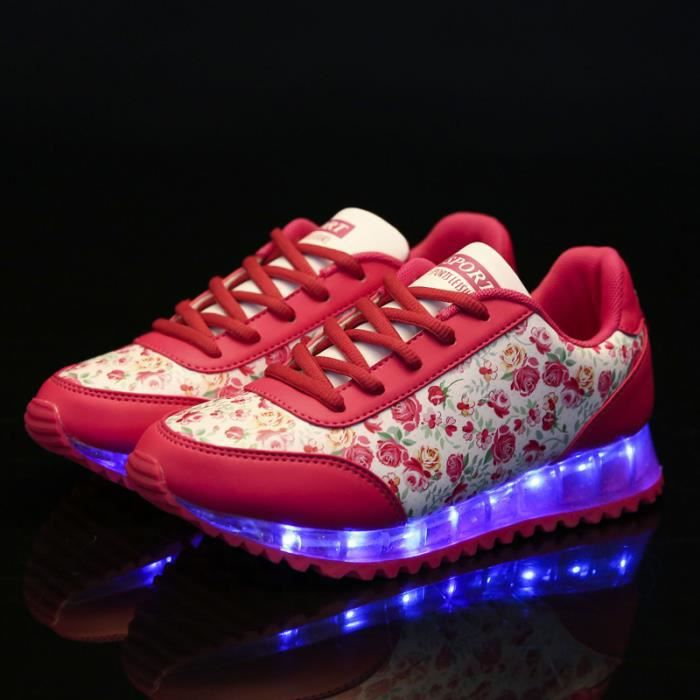 Chaussures lumineuses fluorescentes de recharge...