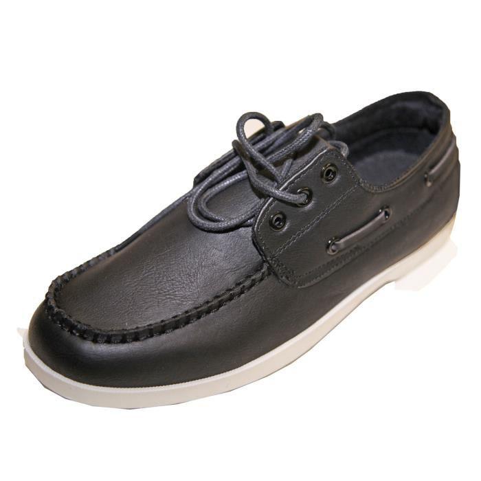 Mocassin Chaussure Bateau à Lacets Homme à Enfiler Fashion Simili Cuir! Me67lVr