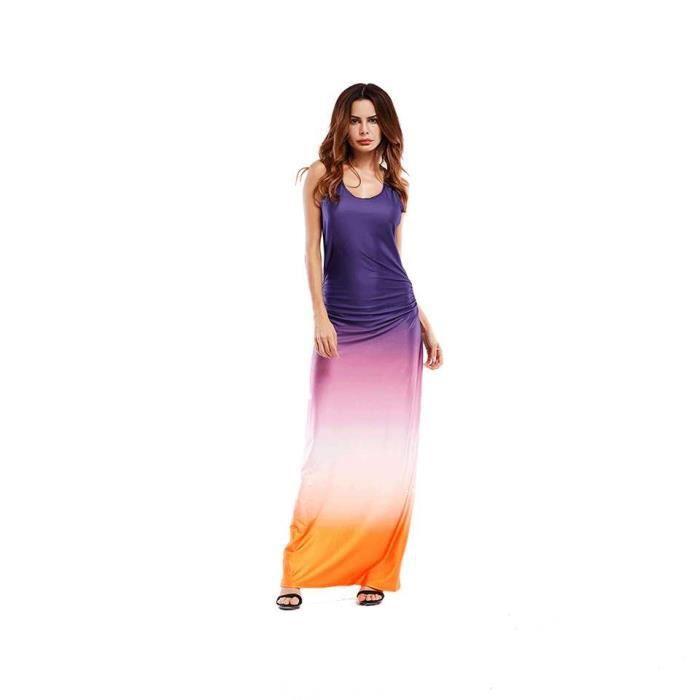 Robe longue robe de plage Femme Chic 2018 Printemps Ete - Couleur de dégradé - 164