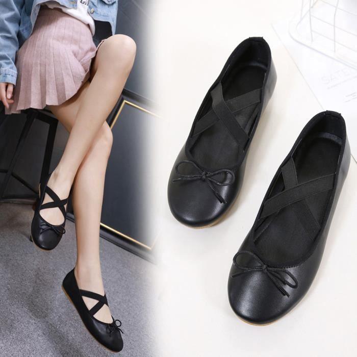 Croises Yoga Chaussons Chaussures Femmes love5272 Lanires Rond Ballet Danse Bout Loisirs Flat wqznxOTIfI