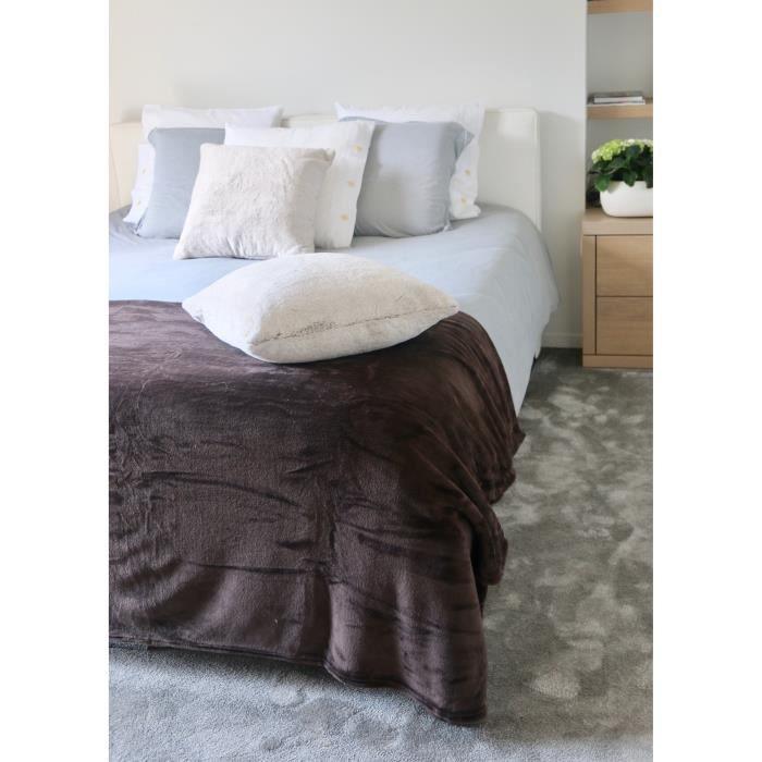 couverture polaire microfibre 220x240 achat vente pas. Black Bedroom Furniture Sets. Home Design Ideas