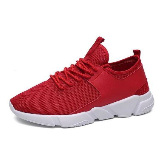 Basket Amortisseur Plus Mode De RéSist Doux Mode Plus Homme rouge 43 R49483697_AL616 Rouge Rouge - Achat / Vente basket 437963