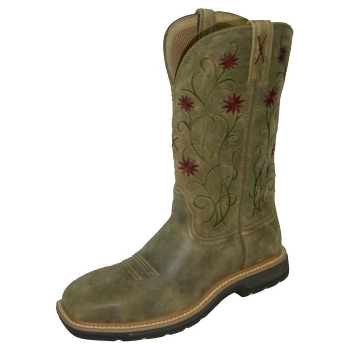 Floral Cousu Roughstock Cowgirl Boot Steel Toe - Wlcs002 UEGP5 Taille-41 hyTaZ