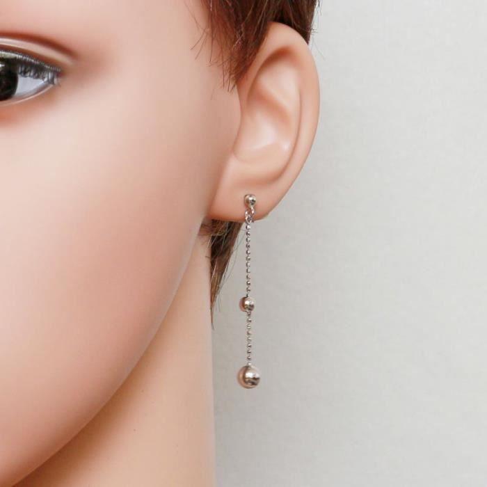 Boucles d oreilles Argent 925 ref 44119 Blanc