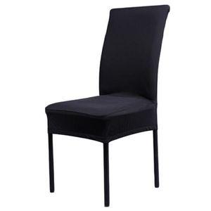 6 housse de chaise extensible noir - achat / vente 6 housse de