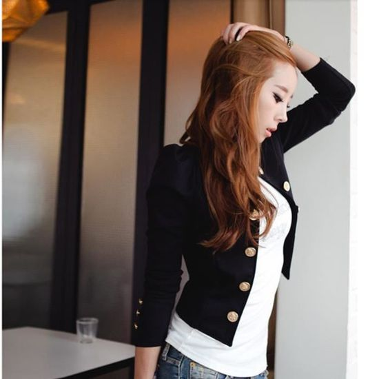 Top Slim Outwear Blazer Casual Xxl70914491 Noir Manteau Tops Veste Femmes Suit coat3292 wgxR46q1x