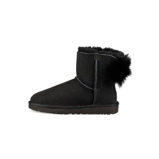 Bootss Noir Pluff Ugg Mini Bow nw0qFT0