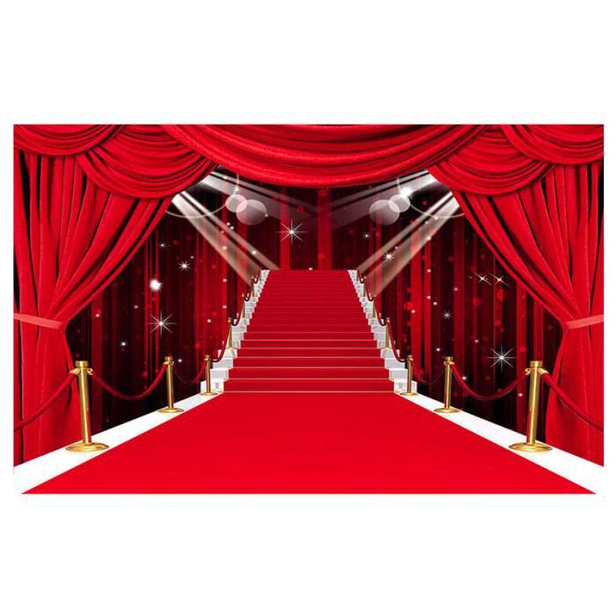 Neufu toile de fond tapis rouge tissu pr photographie for Tapis rouge avec canapé 145 cm