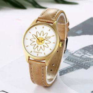 MONTRE Femmes Mode bracelet en cuir analogique quartz ron