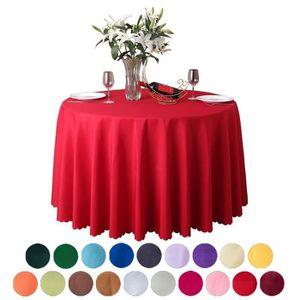 Xiang Ru Nappe de Table Ronde en Polyester pour Restaurant ...