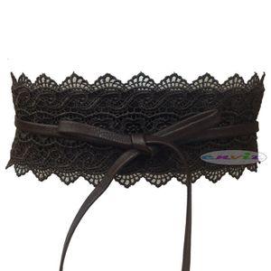 3194ecb59f68 CEINTURE ET BOUCLE Ceinture corset dentelle large à nouer pour femme