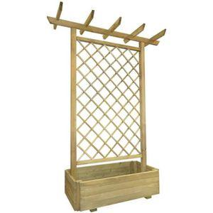 Pergola bois achat vente pas cher cdiscount - Pergola en bois pour jardin ...