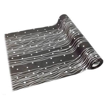 chemin de table goutte: noir et argent (x1) ref/ch510 - achat