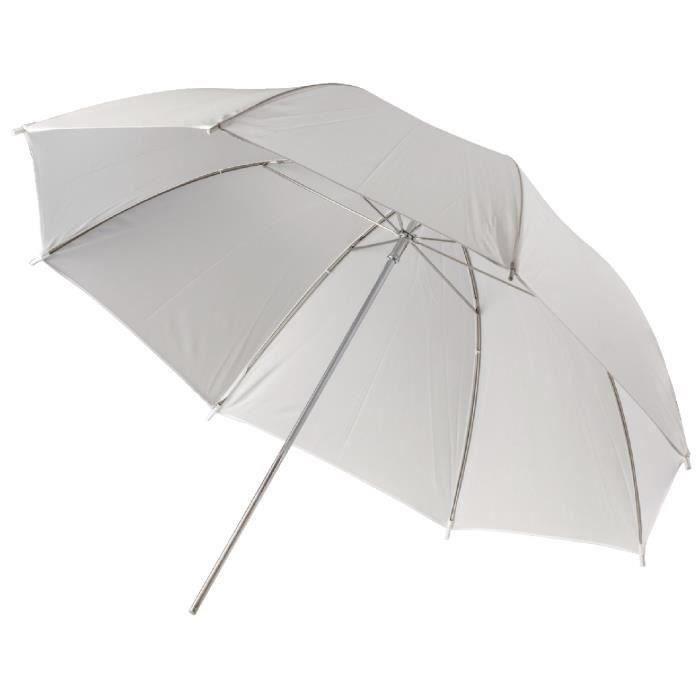 CAMLINK CL-UMBRELLA10 Parapluie Photo Studio Ø 100 cm Translucide - Blanc