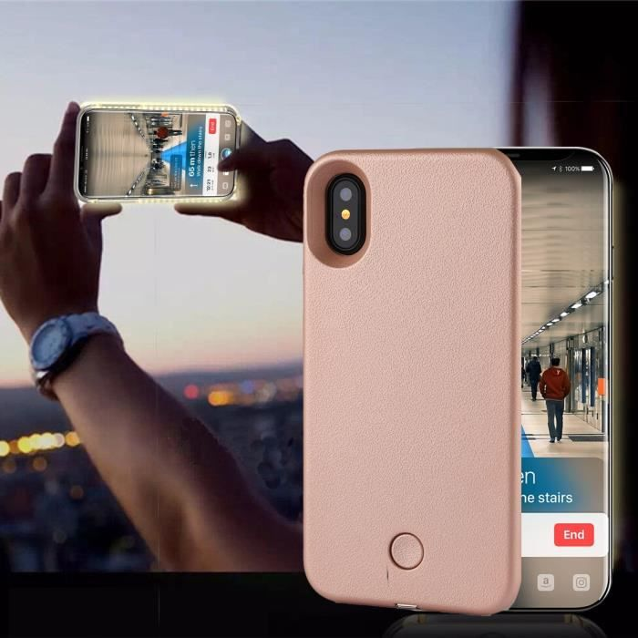 coque iphone x lumiere led