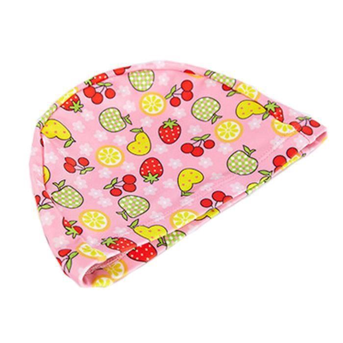 Tricoté Natation beau fruit enfants Caps bébé Bonnet de bain,Rose