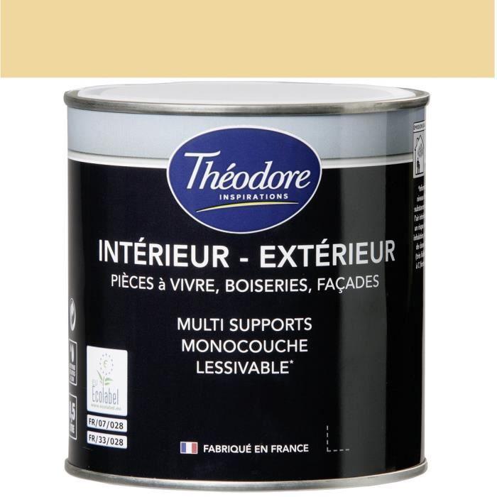 Thodore Peinture Acrylique Satine IntrieurExtrieur  Paille
