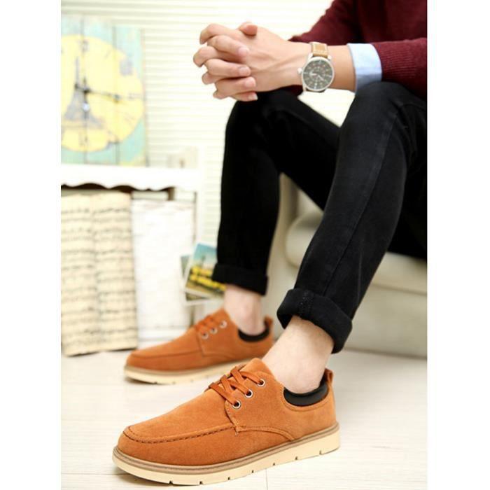 mode casual chaussures pour hommes occasionnels-marron