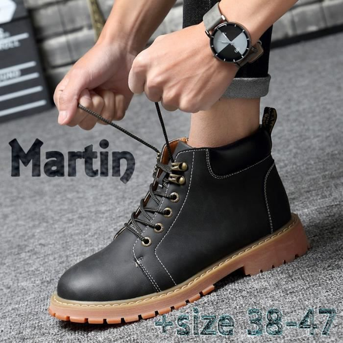 Bottes pour Mixtemarron 13 Chemisettes Tooling Automne Casual Suede hiver neige botte en cuir Martin Zapatos Mujer Big_6470